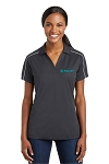Kelley Women's Micropique Sport-Wick Piped Polo