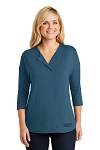 Women's Concept 3/4-Sleeve Soft Split Neck Top