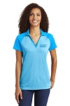 Women's PosiCharge RacerMesh Raglan Heather Block Polo