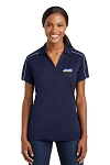 Women's Micropique Sport-Wick Piped Polo