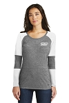 Women's Tri-Blend Performance Baseball Tee