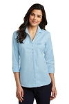 Women's 3/4-Sleeve Micro Tattersall Easy Care Shirt