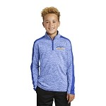 Youth Heather Colorblock 1/4-zip Pullover