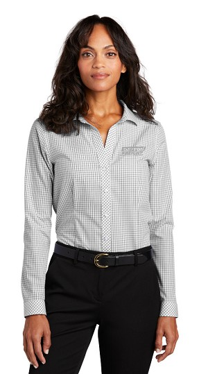 NEW! Women's Open Ground Check Non-Iron Shirt